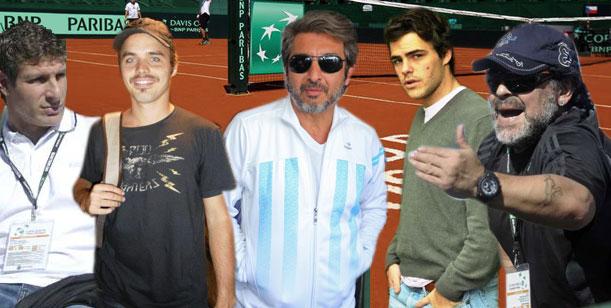 Los famosos fueron a alentar la Copa Davis