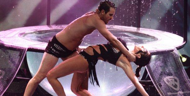 Pedro y Paula: besos y buenos puntajes después de la lesión en Showmatch