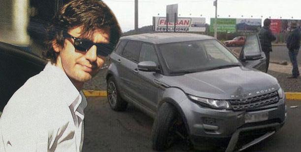 Así quedó la camioneta de Benjamín Vicuña luego del accidente en Chile