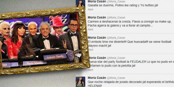 Jurado pintado: Los 5 tweets demoledores de Moria y la bronca de Gasalla