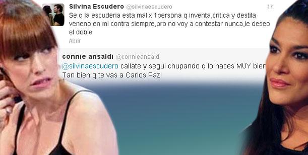 Connie Ansaldi a Silvina Escudero en Twitter: Callate y seguí chupando...