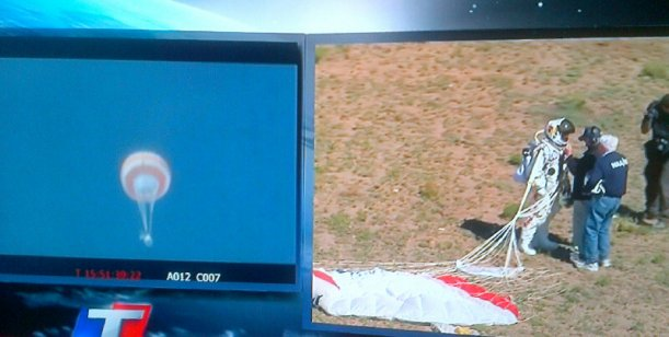 El evento del día: TN registró 10 puntos de rating con el Gran salto Baumgartner