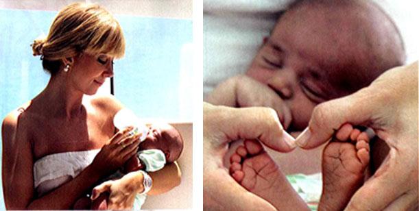 Las fotos de Brel con su hijo recién nacido