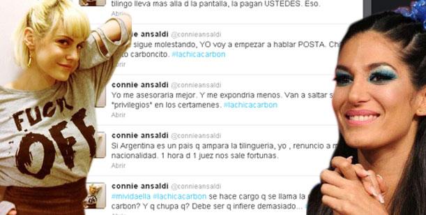 Nuevo round tuitero en la pelea Connie - Escudero: Van a saltar tus privilegios