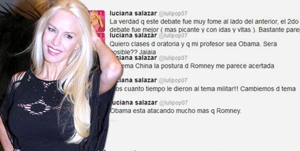 Luli Salazar analizó el debate presidencial americano ¿Escribió ella o Redrado?