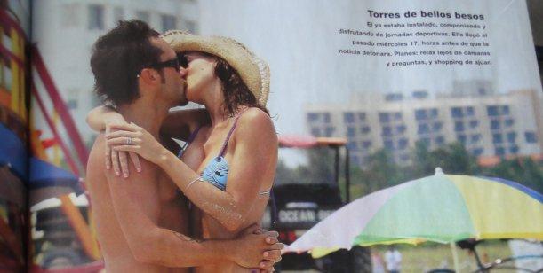 El bulto de Diego Torres genera furor en los medios