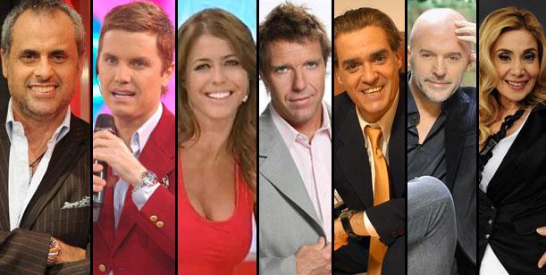 América 2013: Rial, Del Moro, Pamela David, Fantino, Pettinato, López y Politti