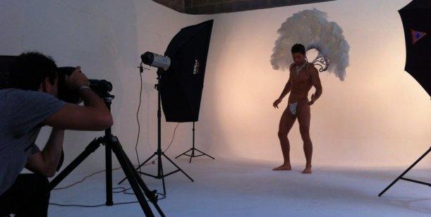 El back de la foto de marquesina de la obra de Ricardo Fort