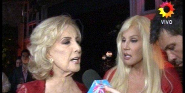 Mirtha, Susana y Tinelli juntos en el backstage de la revista Caras