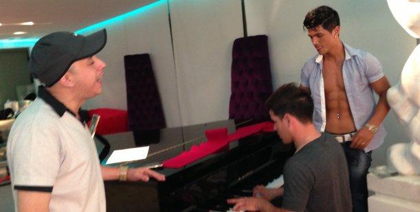 El Dipy, Rodrigo Díaz y Ricardo Fort, trabajan juntos
