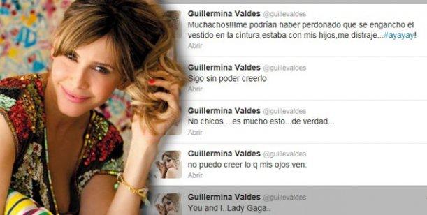 Guillermina Valdes: descargo vía twitter por la publicación de sus osadas fotos