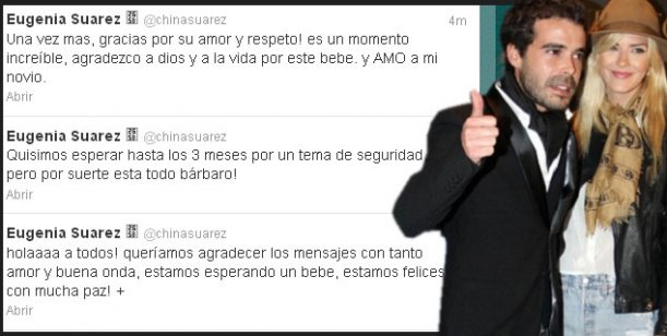 Eugenia Suárez confirmó el embarazo: Estamos esperando un bebé