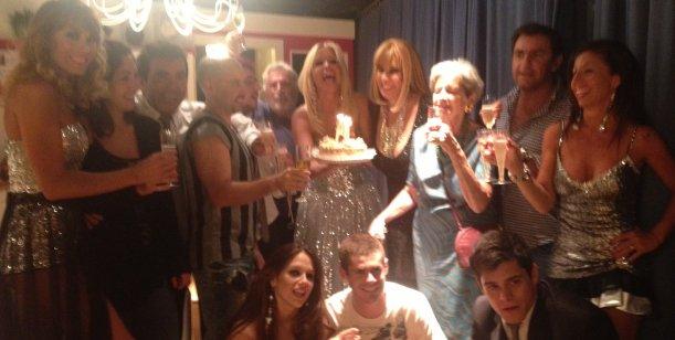 Georgina Barbarossa festejó su cumpleaños arriba del escenario en Carlos Paz