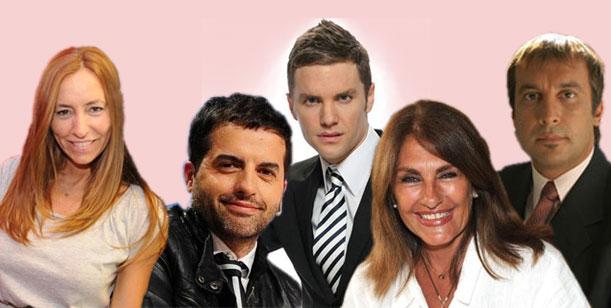 Santiago del Moro con panel listo: De Brito, Franchín, Vilouta y Silvia Fernández Barrio