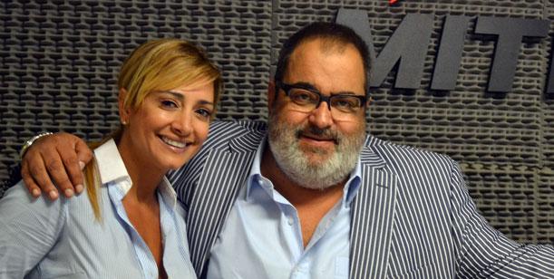 Lanata y Andrea Ghidone compañeros de radio Mitre