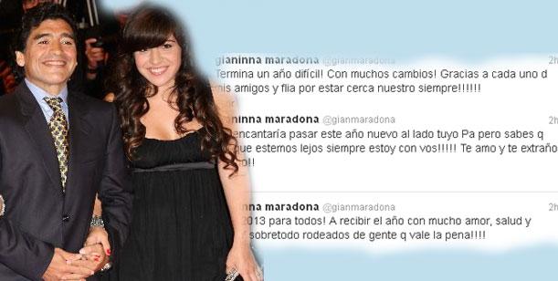 Gianinna Maradona y sus sugestivos tweets