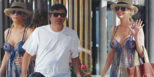 Canosa disfruta de su embarazo en Punta