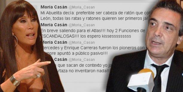 Moria Casán vs Nito Artaza en Twitter: Van últimos, que no me busquen