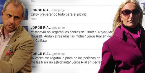Los ácidos tweets de Rial contra su ex