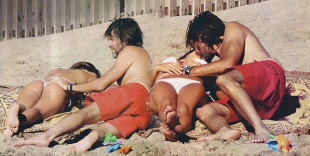 Mientras Mecha está en Miami, Celasco disfruta de Mar del Plata con Vitto