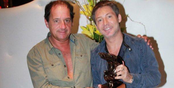 Adrián Suar viajó a Mar del Plata para saludar a su amigo Julio Chávez