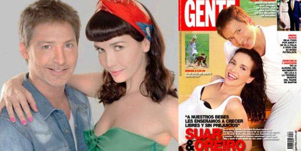 Adrián Suar y Natalia Oreiro, tapa de la revista Gente de esta semana