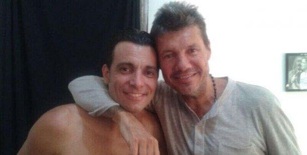 Marcelo Tinelli y Guillermina Valdes juntos en la noche de Buenos Aires