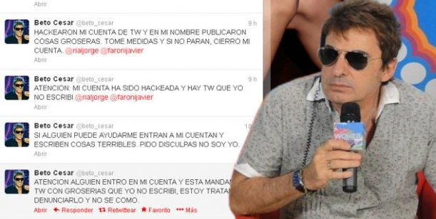 Beto Cesar denuncia hackeo y elogia a Fátima Florez en su cuenta de Twitter