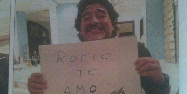 La historia secreta de Diego Maradona y Rocío: un ex, un celestino y la polémica