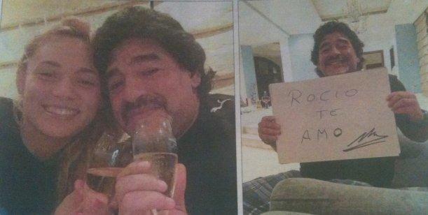 Aseguran que la nueva novia de Diego Maradona estaría embarazada