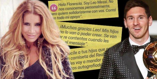 Lionel Messi apoyó a Florencia Peña luego de la aparición de su video hot