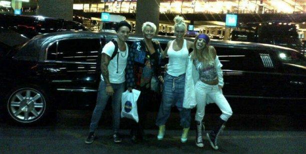 El álbum de fotos del viaje de Carmen Barbieri, su hijo y las griegas en Las Vegas