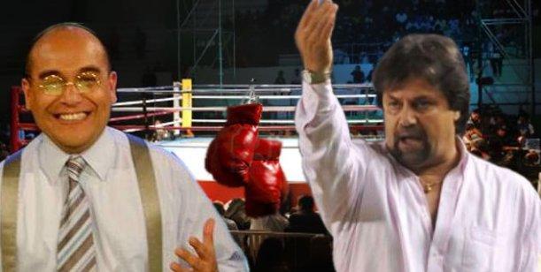 Ricardo Caruso Lombardi a los golpes con Elio Rossi en un estudio de televisión