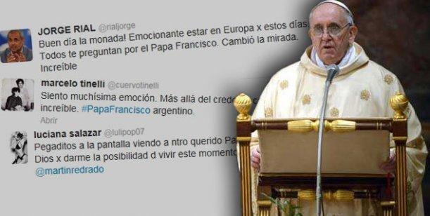 En la asunción del Papa, los famosos siguen el acontecimiento vía Twitter