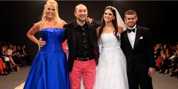 Barbarita Vélez se puso el vestido de novia y posó para las cámaras con Sofritti