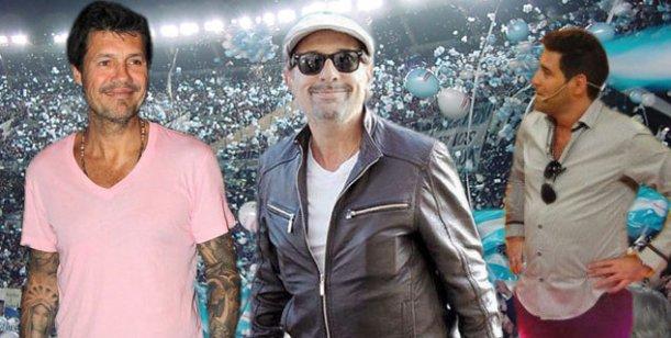 Marcelo Tinelli y otros famosos alentaron a la Selección Argentina