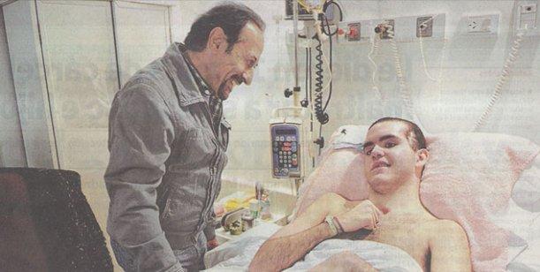 Francella visitó a Enzo Romano el chico que se ríe con sus escenas