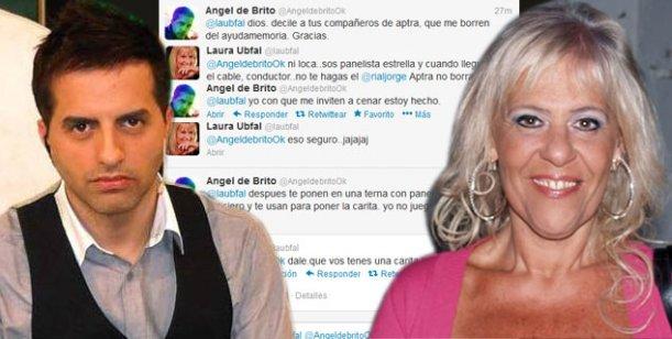Laura Ubfal vs. Ángel de Brito: un nuevo cruce en twitter