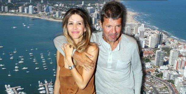 El viaje romántico de Marcelo Tinelli y Guillermina Valdes a punta del este