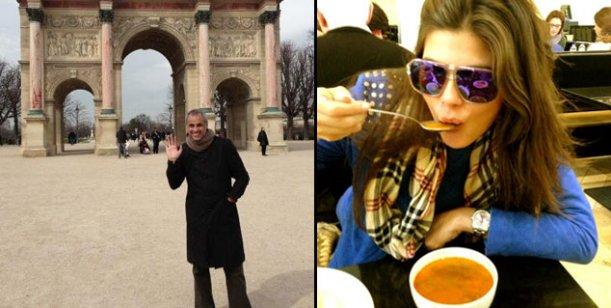 El álbum de fotos del romántico viaje de Rial y Mariana Antoniale en Europa