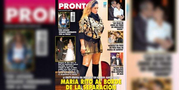 María Eugenia Ritó, en crisis matrimonial