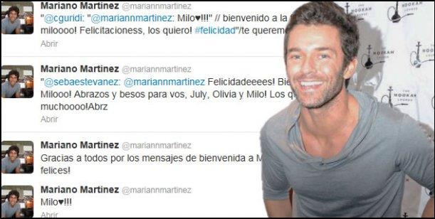 Nació Milo, el hijo de Mariano Martínez