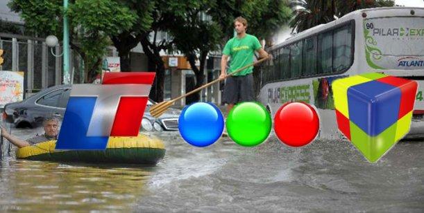 Programación modificada en los canales por las inundaciones en Capital