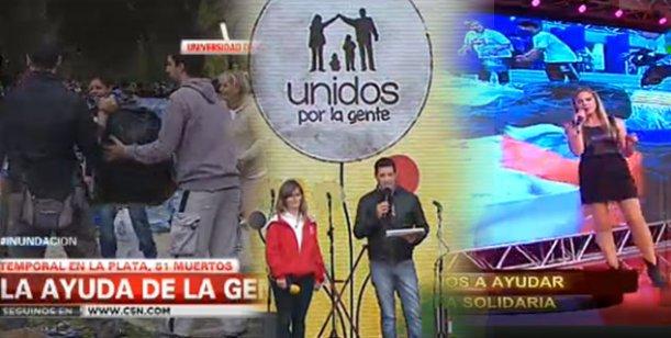 Televisión solidaria: Canal 13, América y C5N realizaron emisiones especiales