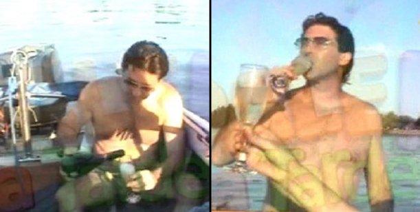Los Calabró en tiempos mejores: cuando Rossi brindaba con champagne