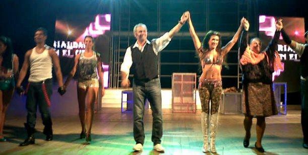 Rial debutó en Rosario con su espectáculo y Lanata fue el invitado de lujo