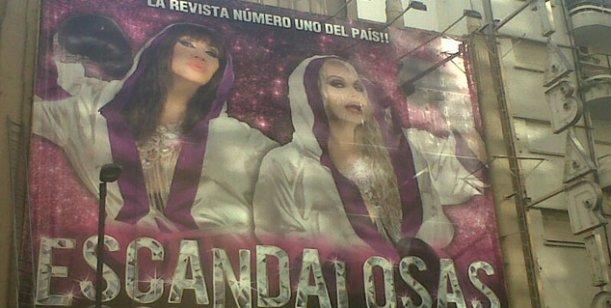 Escandalosas ya tiene marquesina en calle Corrientes