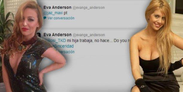 Los tweets que Evangelina Anderson borró luego de pelear con Wanda Nara