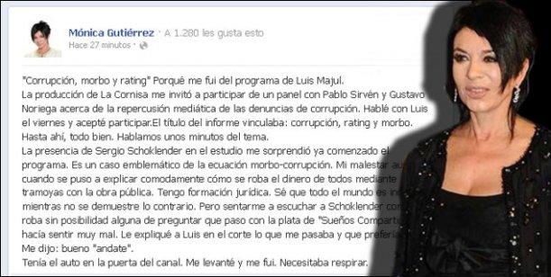 Gutiérrez después de irse de lo de Majul: Corrupción, morbo y rating, dijo