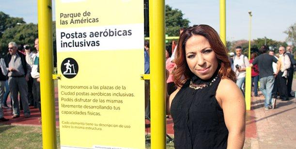 Noelia Pompa es madrina de un parque para chicos con capacidades diferentes